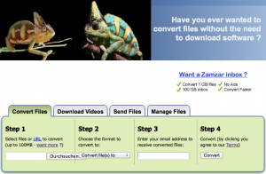Online-Dienst zamzar.com