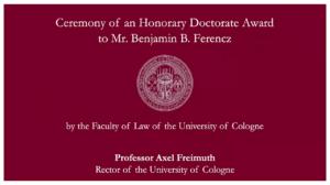 Alternatives Bühnenbild, Text als Überleitung zu Rektor A. Freimuth